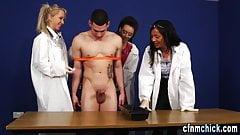 Cfnm scientist dominas experiment tugging