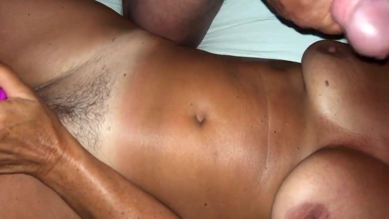 Girl Licks Cum Off Tits
