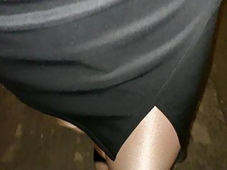Shara pussy Shara pantyhose in glossy pantyhose and high heels