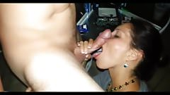 Eager hotslut makes guy explode in her mouth & thanks him