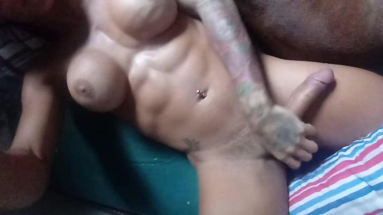 Big Black Dick Stroking Solo