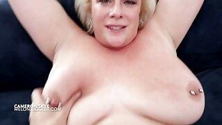 Big boobs Cameron Skye has her ginger minge fucked hard