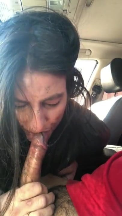 Big Tit Hooker Car Blowjob