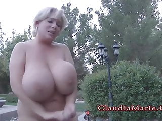 Claudia marie big tit whore Claudia marie chubby and has her huge fake tits destroyed