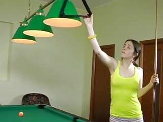 Bored teen girls Teen gets bored playing pool