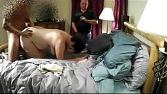 Cuckold Watches Wife With Young BBC & Cleans Creampie