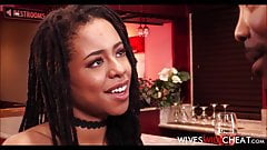 Hot Black Wife Kira Noir Cheats On Husband In A Restroom