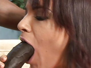 Black gay cock fucking - Pretty brunette white girl loves to swallow cum after huge black cock fucking