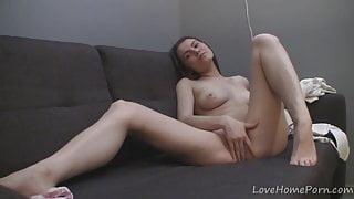 Intriguing cutie takes down her kinky panties