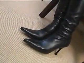 Knee high boots crossdresser porn Sat with knee high boots