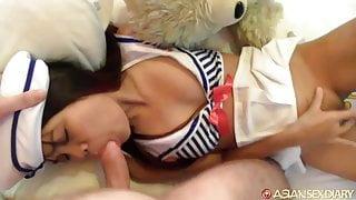 Asian Sex Diary - Asian slut in sexy sailor costume fucked