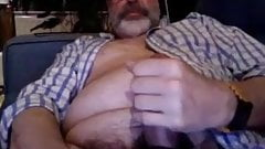 Mrscruffles hairy grey beard Daddy milks nice big cum load