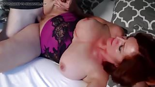 Redhead mature mom with  stepson
