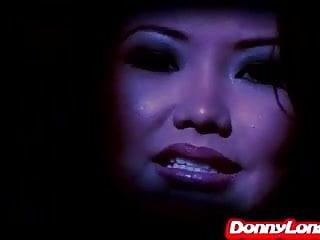 Stupid asian girl Donny long breaks tiny asian asshole of stupid whore