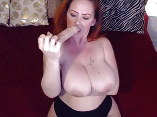 Immense penis Dirty talking mother sunny with immense boobs masturbates