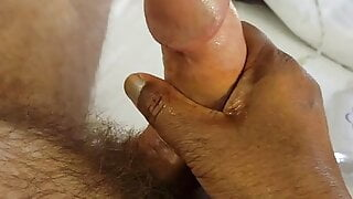 Edging His Huge Cock from Restraint to Drooling Cum