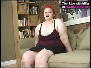 Balantis glans of penis head stick - Red head bbw sticks dildo in chubby pussy