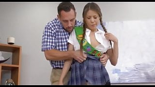 stepdad teaches daughter to sell cookies!