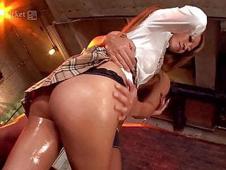 Oil asian massage video uncensored - Rino katagiri oiled up and fucked uncensored jav