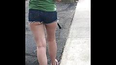Indigo Jeans Cheeky Shorts - Street Booty Jiggle