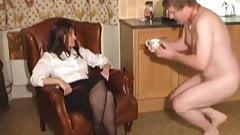 Mistress trains Husband to do housework