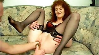 redhaired milf gets fisted