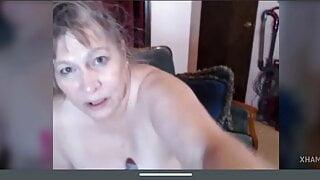 Hot American granny tits, pussy masturbation, multi squirting