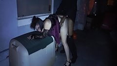 I fuck this PAWG on her porch on Halloween