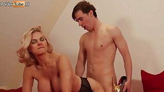 Mature Blonde Big Ass Stepmom with Huge Tits Fucks