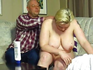 Nasty tit Nasty old bitch with short hair gets fucked.