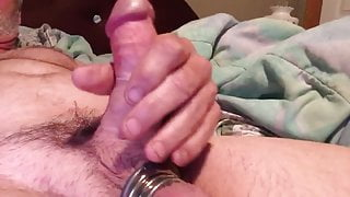 Curved cock with cock rings on balls