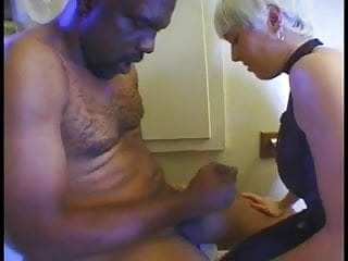 Guy geta an asshole examination - White bitch fingers black guys asshole