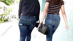 Big Ass Walking . Latina Jeans