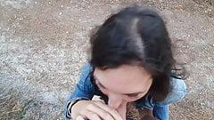 Hotsexyalx bitch stranger sucks in public woods