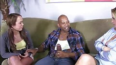 Hot mom Phillysha and sexy daughter Haley fucked by black