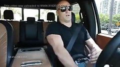THICK COCK DAD JERKING AND CUM IN CAR