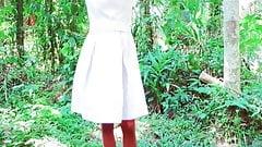 Sri Lankan School girl sex fun and shower in forest