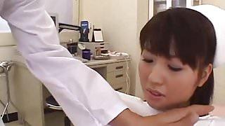Misato Kuninaka, Asian nurse, drilled with toys