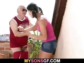 Dick his see - Guy sees gf cheating with his old dad