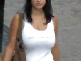 Boob bouncing wobbling - Compilation big boob bouncing and walking in street