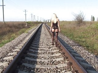 Gay mount desert island Hot blonde pleasuring herself on deserted railtrack