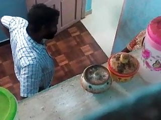 Indian housewife milf Tamil cheating housewife with cable operatorhidden part:1