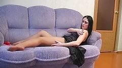 Rosa masturbating in pantyhose