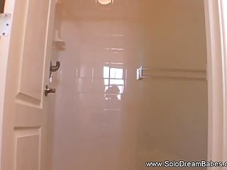 Girls shower nude video - Taking a hot shower nude