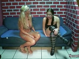 How approach virgin German mom teach virgin step daughter how to fuck with guy