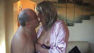 He loves her tits, she loves his cum