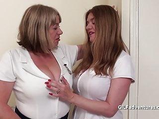 Sharing big boobs Big boobed older duo share black dick