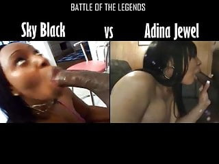Sky black getting fucked Sky black vs adina jewel