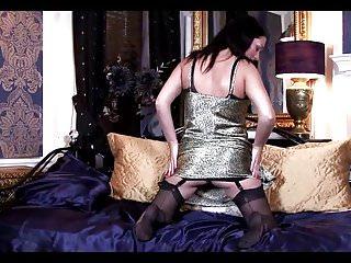 Mature nylon slip tubes - Mature woman in a satin slip