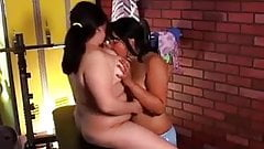 Cute chubby lesbians loving pussy